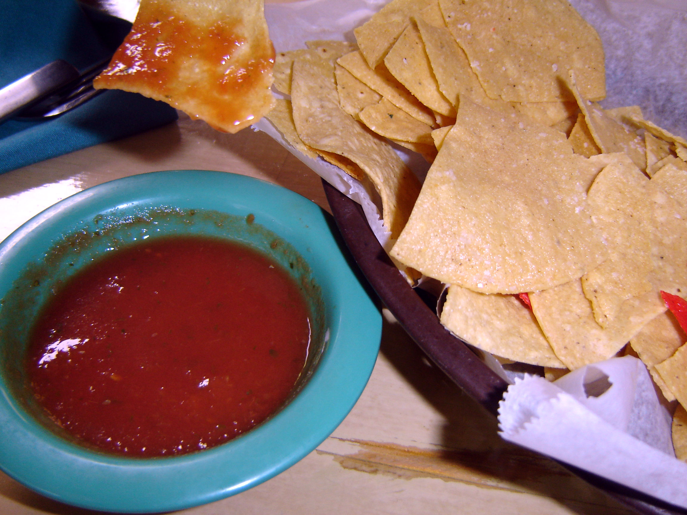 Across the Street, Chips and Salsa, Mexican Food